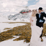 Canmore Wedding with a Helicopter
