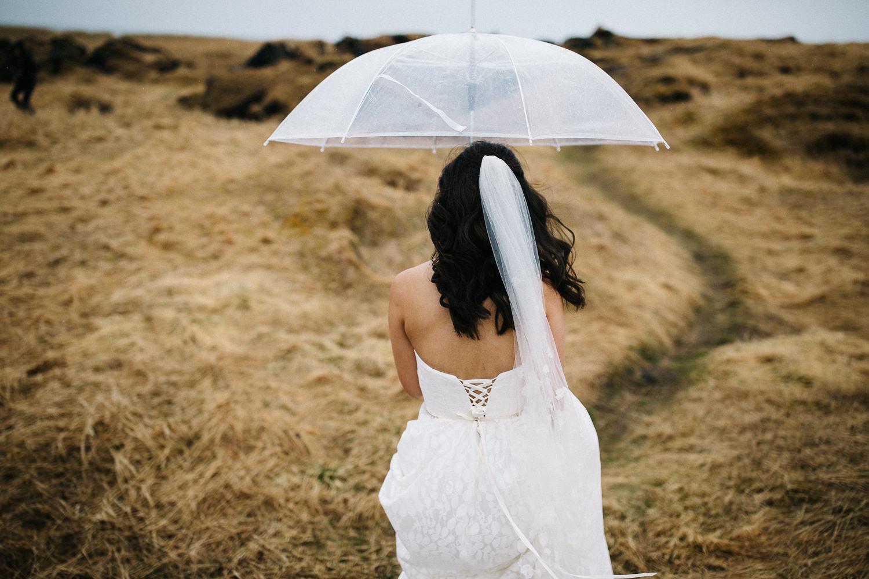 Wedding Day in the Rain Iceland