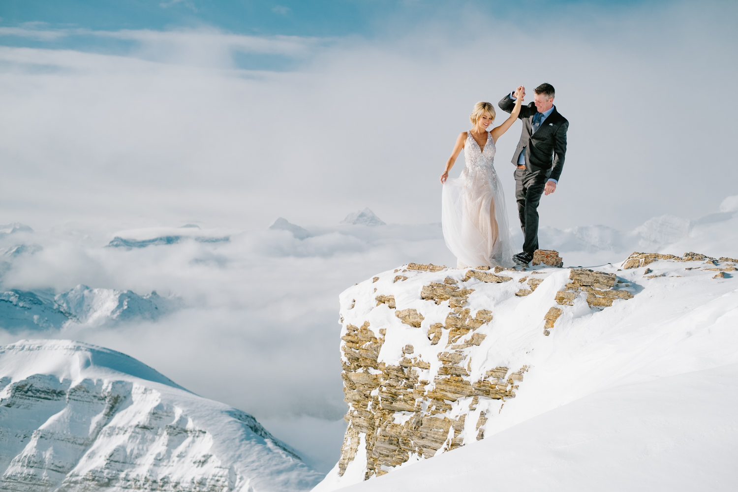 Banff Winter Elopement Photographer